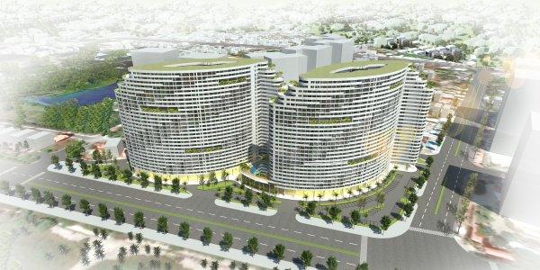CHUNG CƯ CAO CẤP VŨNG TÀU GATEWAY<br>Hình khối chủ đạo của công trình được thiết kế tựa như những cánh buồm đang đón gió, vươn mình ra biển lớn, đem đến may mắn, tài lộc và vượng khí cho những cư dân tương lai của Gateway .